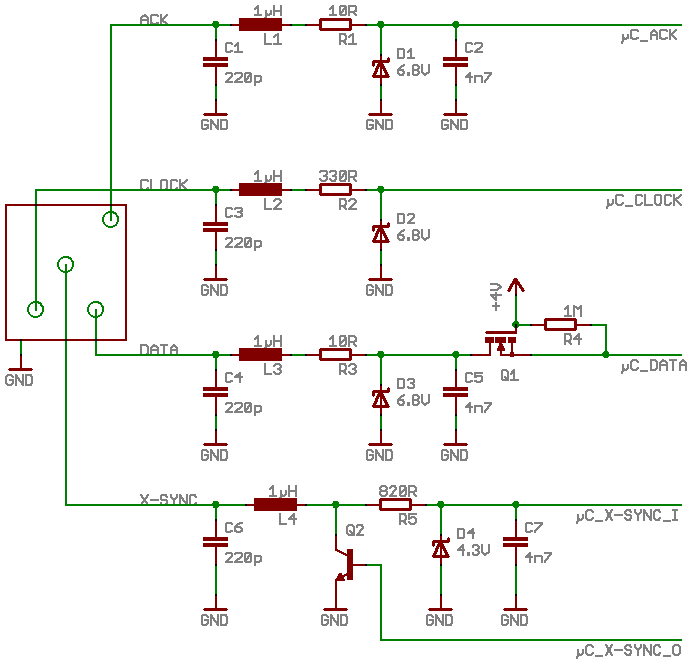 Schematic of the flash interface